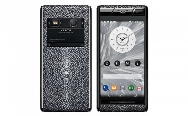 Vertu Stingray Black Leather