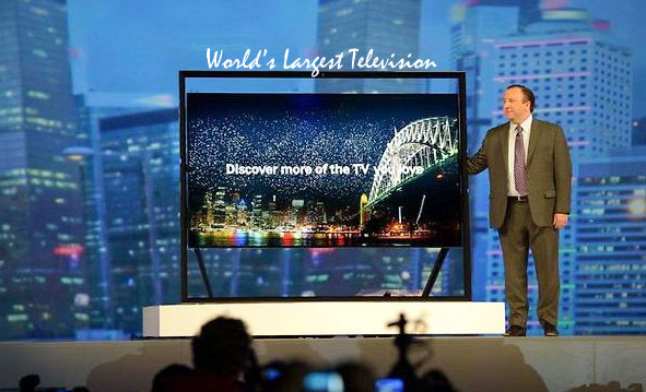 world largest television