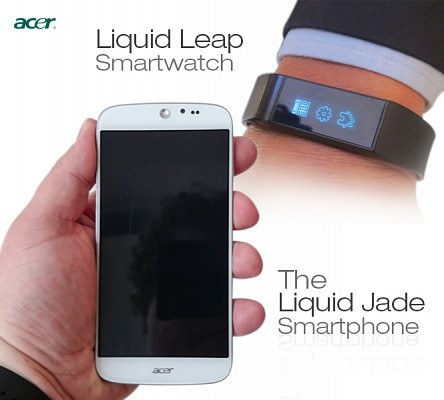 acer smartphone and smartwatch