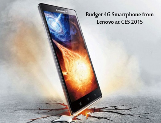 Lenovo 4G smartphone at CES 2015