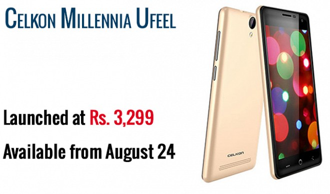 Celkon Unveils Millennia Ufeel smartphone for Rs 3,299