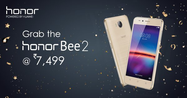 Honor Bee 2 with 4G VoLTE Launched in India at a price of Rs. 7,499