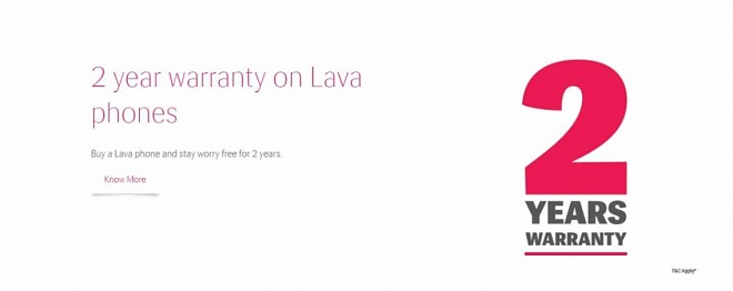 Lava Comes Up With 2-Year Warranty Scheme For Mobiles
