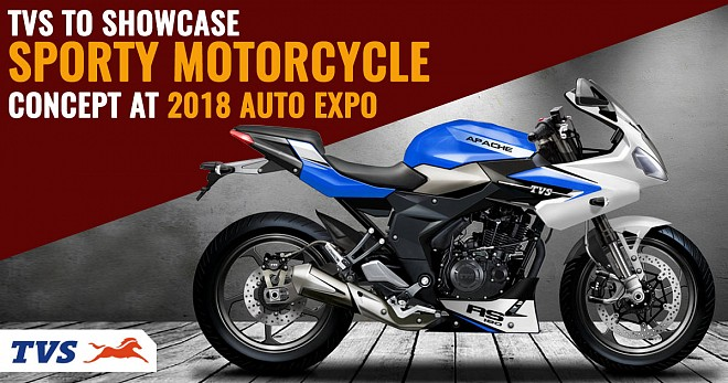 TVS to showcase Sporty Motorcycle Concept at 2018 Auto Expo