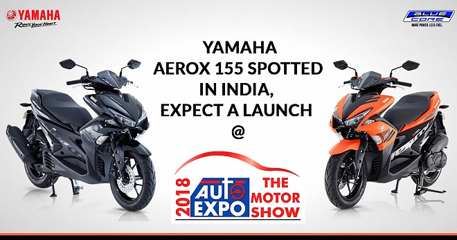 Yamaha Aerox 155 Spotted In India