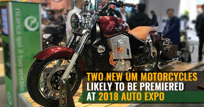 Two New UM Motorcycles at 2018 Auto Expo