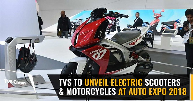TVS Unveil Electric Scooters and Motorcycles