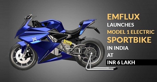 Emflux Electric Sportbike in India