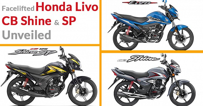 Honda Livo, CB Shine and SP Unveiled