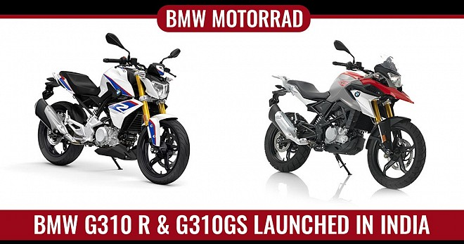 BMW G310GS and G310 R