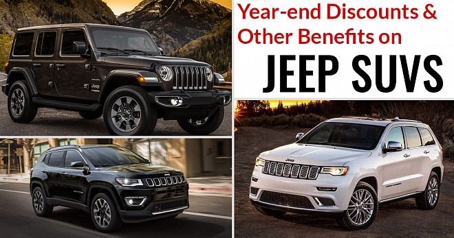 Year-end Discounts and Other Benefits on Jeep SUVs