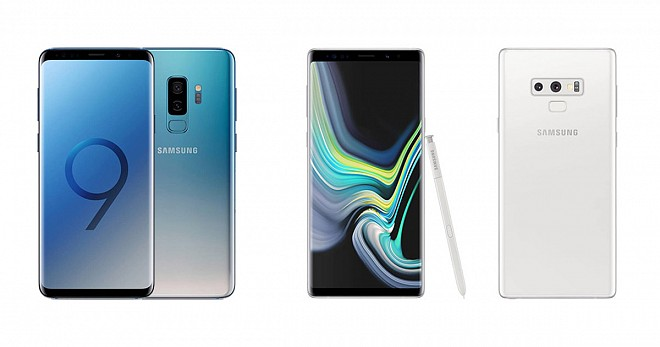 Samsung Galaxy Note 9 and Galaxy S9+