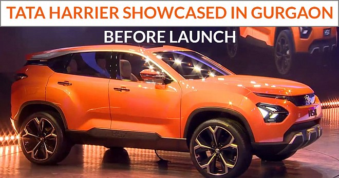 Tata Harrier showcased in Gurgaon Before Launch