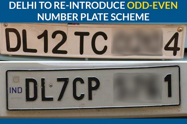 Delhi To Re-Introduce Odd-Even Number Plate Scheme