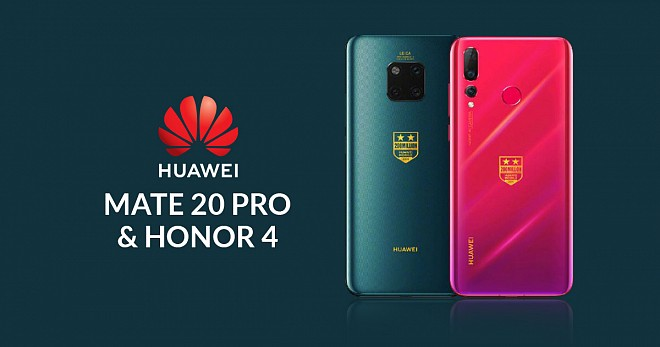 Huawei Mate 20 Pro and Honor 4