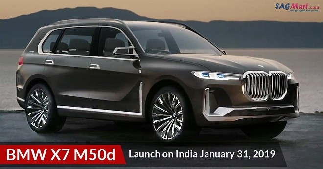 BMW X7 M50d Launch on India January 31, 2019