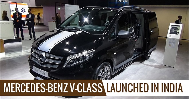 Mercedes-benz V-class Launched