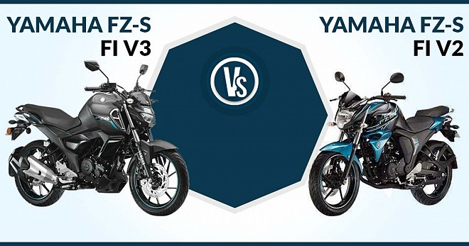 Yamaha FZ-S FI Version 3.0 Vs Version 2.0