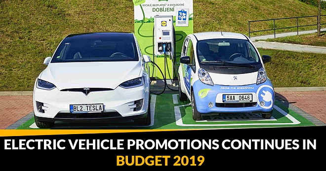 Electric Vehicle Promotions Budget 2019