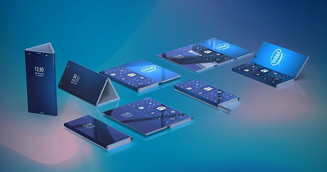 Intel 3 Display Foldable Smartphone
