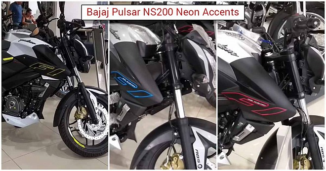 Pulsar NS200 Neon Accents Blue, Red and Yellow