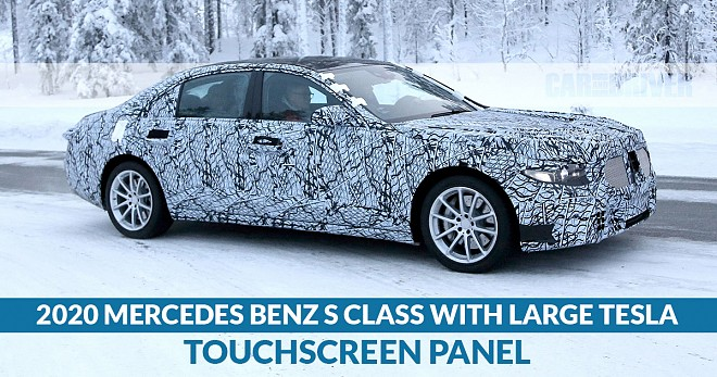 2020 Mercedes Benz S Class With Large Tesla Touchscree