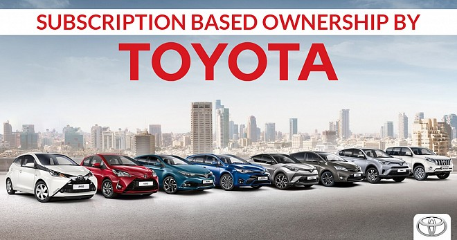 Subscription Based Ownership by Toyota