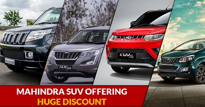 Mahindra SUV Offering Huge Discount