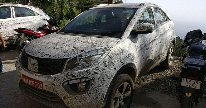 2019 Tata Nexon Facelift Spied Sporting