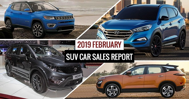 SUV Car Sales Report February 2019
