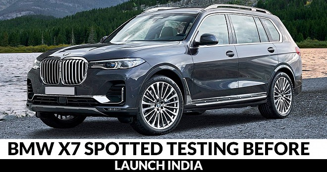 BMW X7 Spotted India
