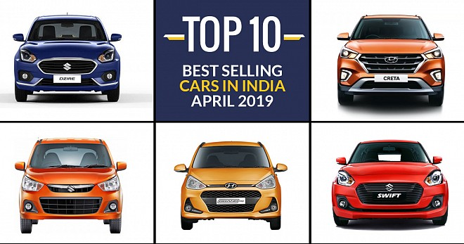 Best Selling Cars in India in April 2019