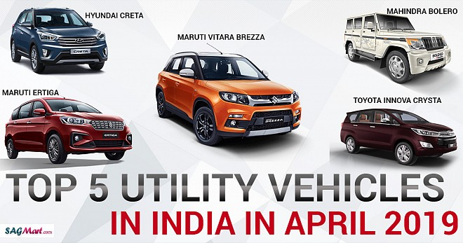 Top 5 Utility Vehicles India April 2019