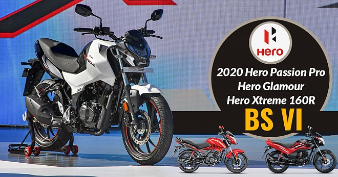 Hero Passion Pro Glamour bs6 Xtreme-160r