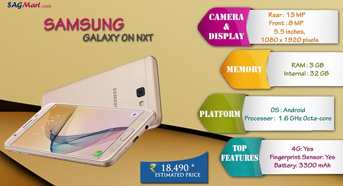Samsung Galaxy On Nxt Infographic