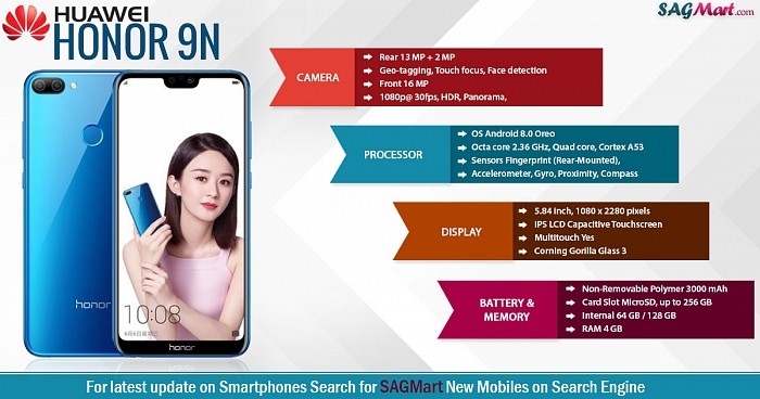 Huawei Honor 9N Infographic