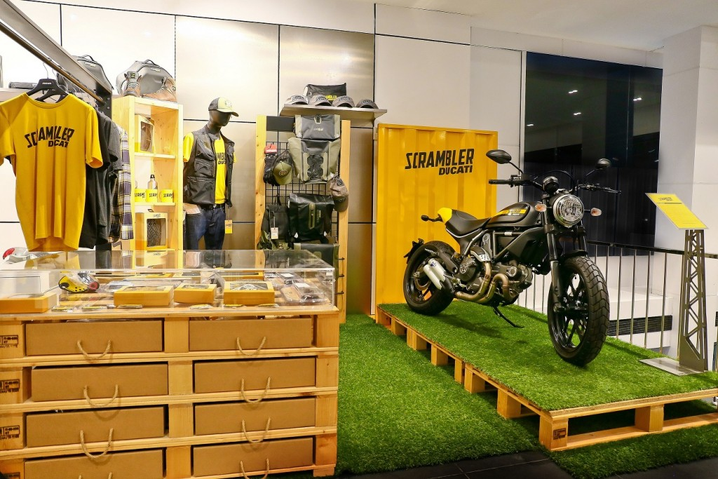 Ducati motorcycles, apparels and  accessories at the Kochi outlet