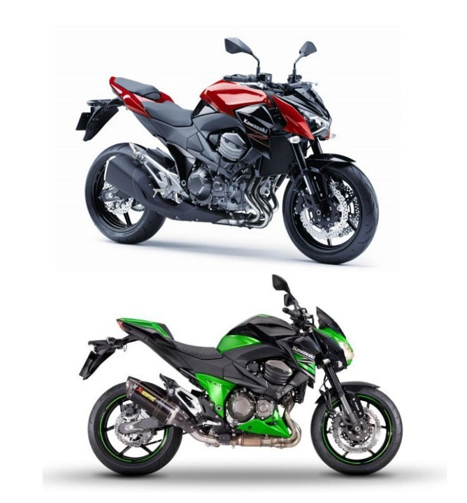 2015 Kawasaki Motorcycle Models get Colored