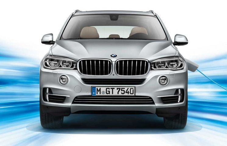 India-Bound BMW X5 at front