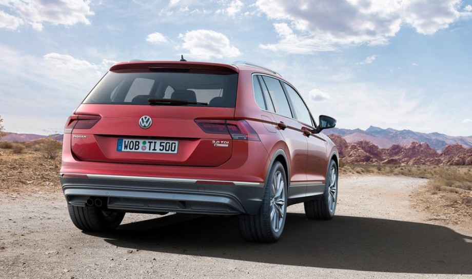 Highly anticipated Volkswagen Tiguan from rear profile