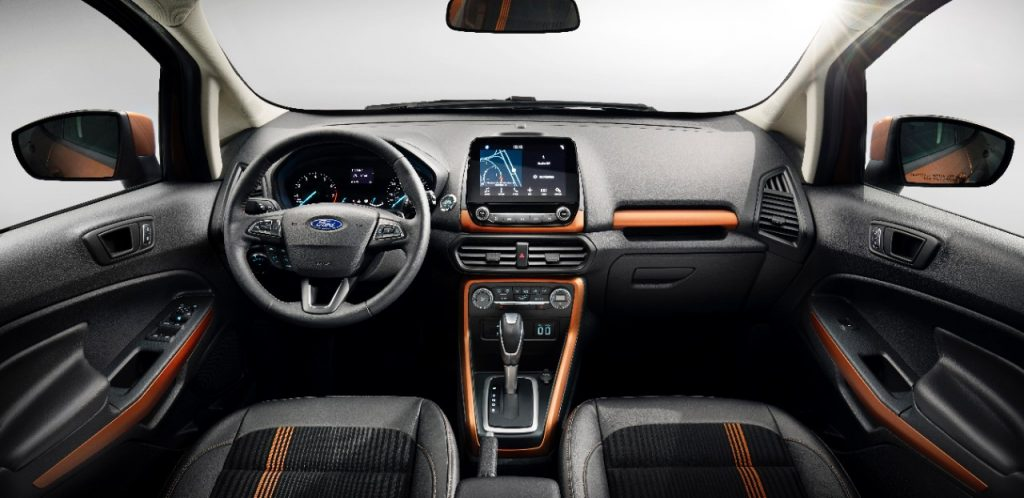 Ford EcoSport Facelift inside the cabin