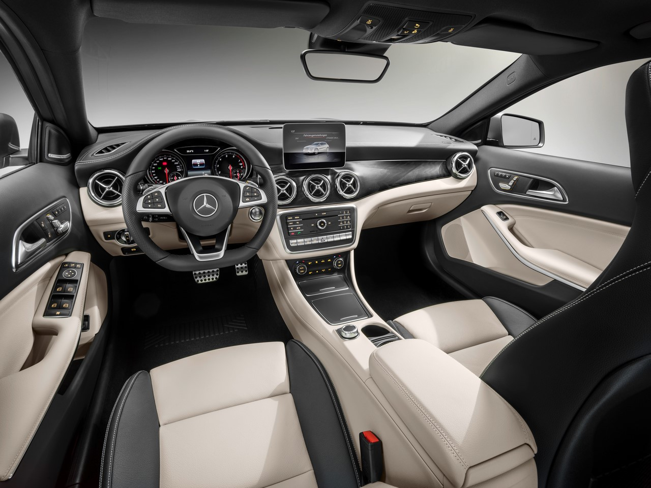 2017 Mercedes GLA Class Revealed at Detroit Auto Show Interior Dashboard Profile`