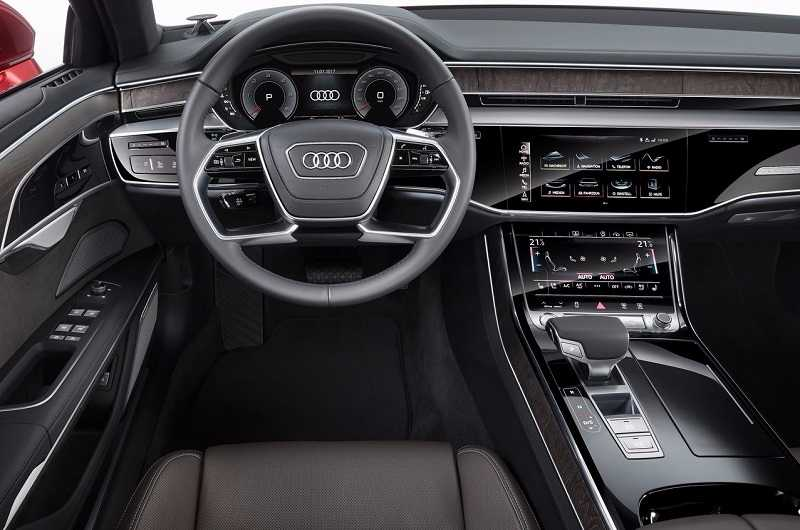 2017 Audi A8 from inside the cabin