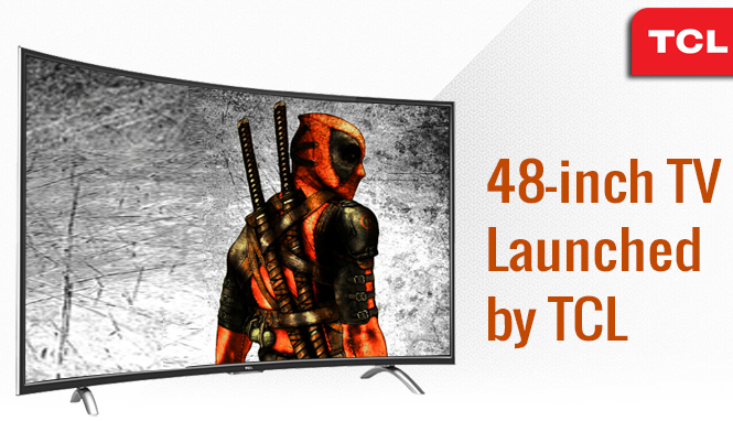 48-inch bended full HD TV by TCL