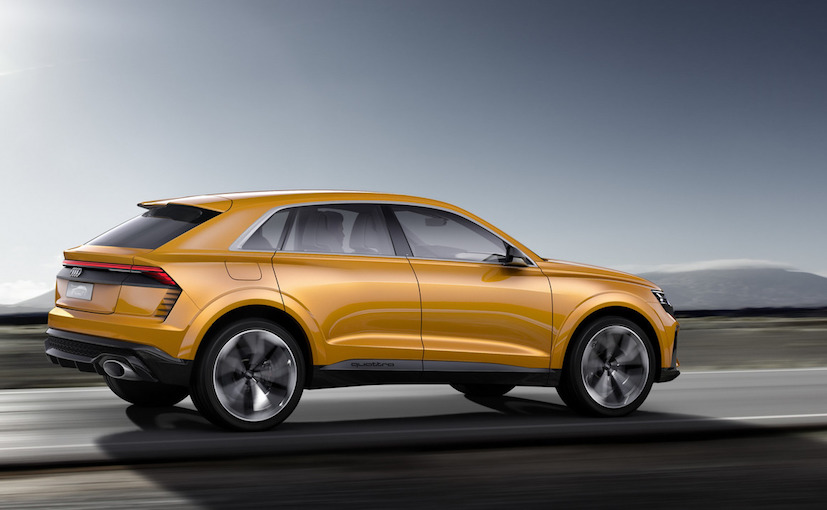 Audi Q8 Sports SUV Concept Side Rear at Geneva Motor Show
