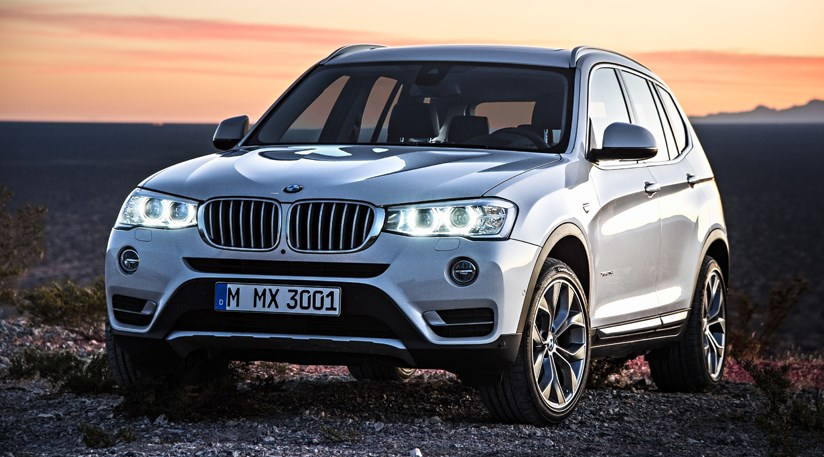 India-Bound BMW X3 at front