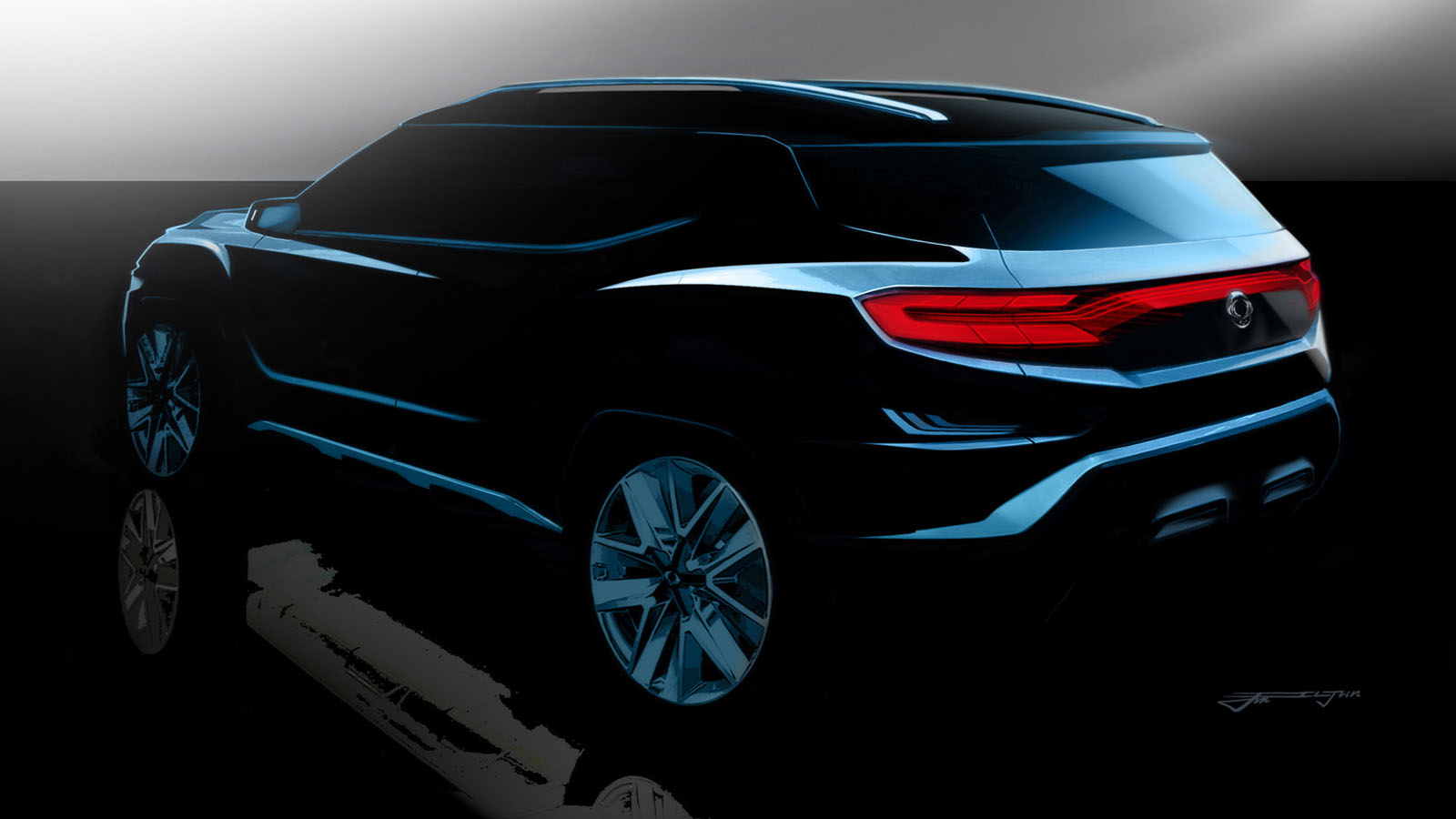 Concept SsangYong XAVL SUV Side Rear Profile