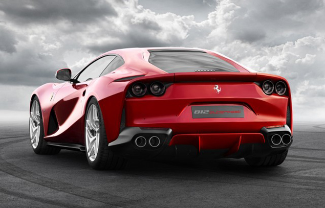 Ferrari 812 Superfast Unveiled at rear end