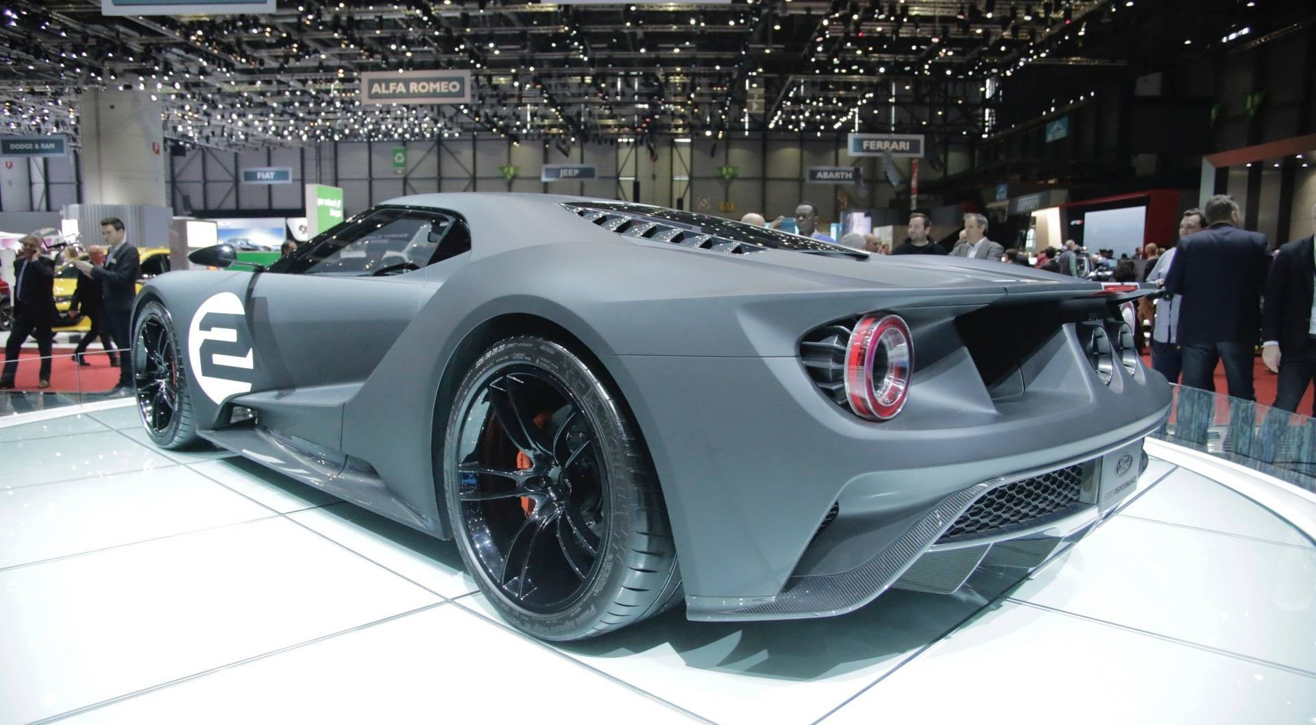 Ford Ford GT 66 Heritage Edition at Geneva Motor Show 2017 side rear profile