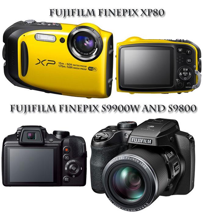 FujiFilm Announces Finepix XP80 S9900W And S9800 Cameras
